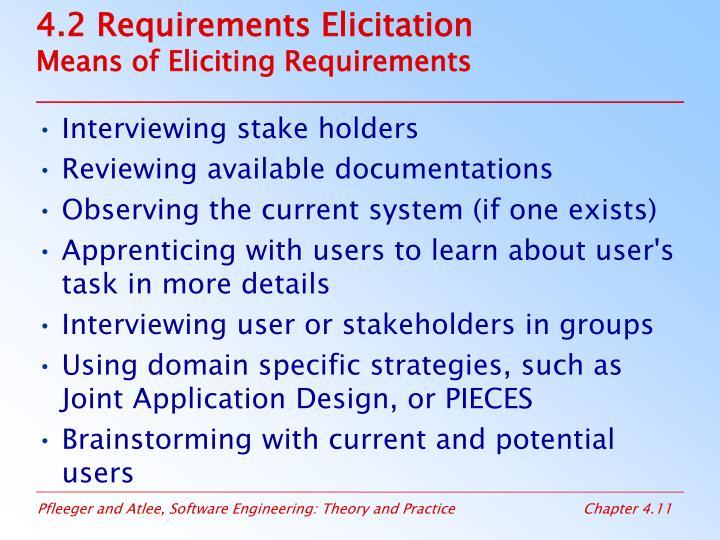 4.2 Requirements Elicitation