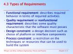 4 3 types of requirements