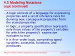 4 5 modeling notations logic continued