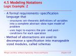 4 5 modeling notations logic example z