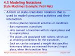 4 5 modeling notations state machines example petri nets