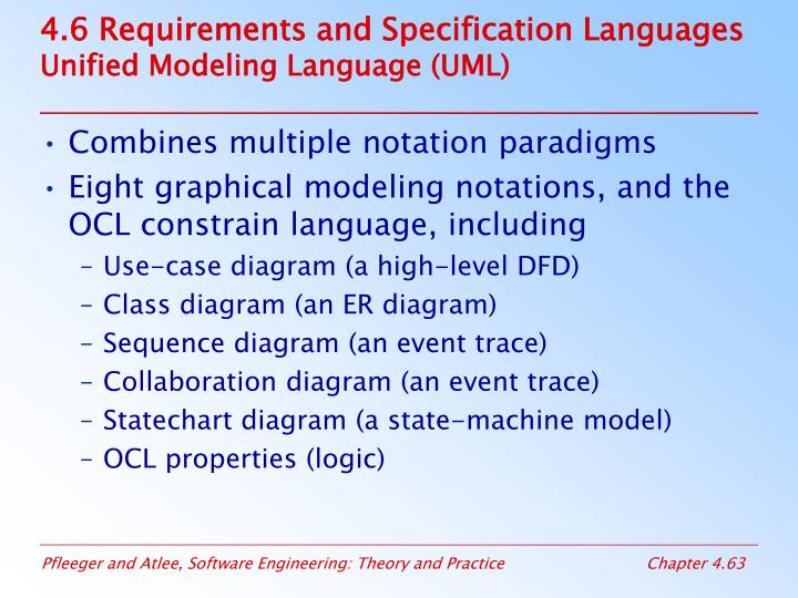 4.6 Requirements and Specification Languages