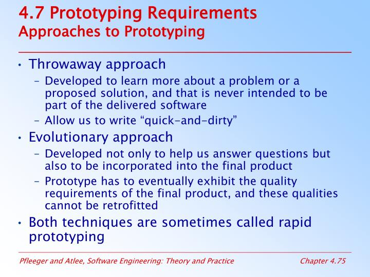 4.7 Prototyping Requirements