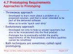 4 7 prototyping requirements approaches to prototyping