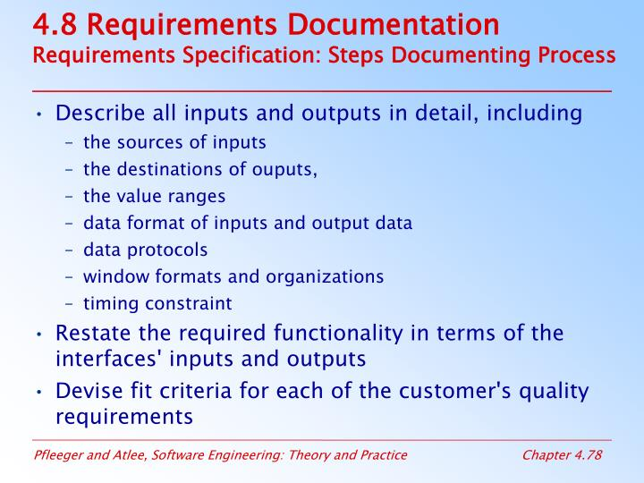 4.8 Requirements Documentation