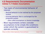 4 8 requirements documentation sidebar 4 7 hidden assumptions