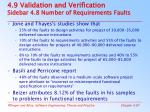 4 9 validation and verification sidebar 4 8 number of requirements faults