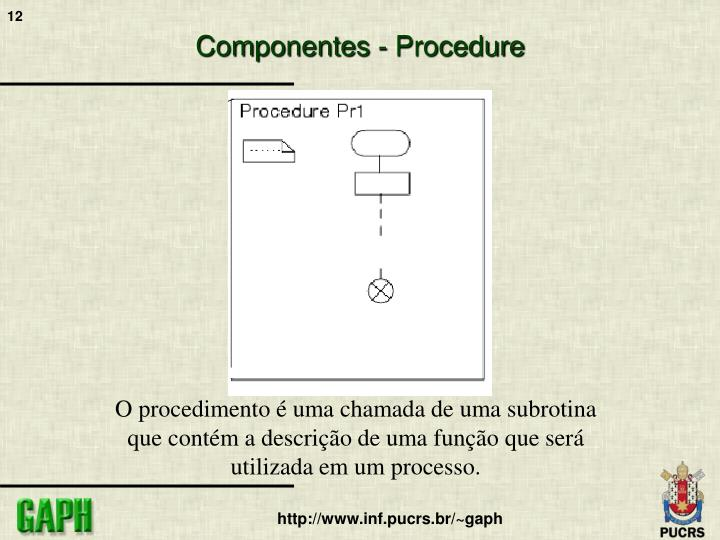 Componentes - Procedure
