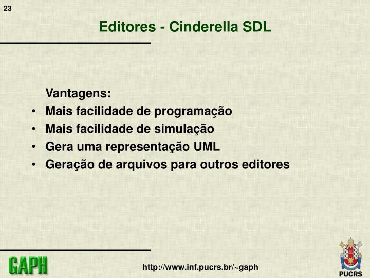 Editores - Cinderella SDL