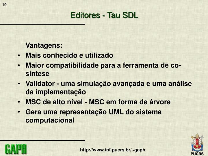 Editores - Tau SDL