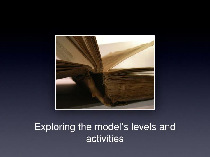 Exploring the model