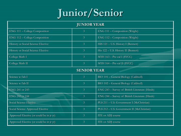 Junior/Senior