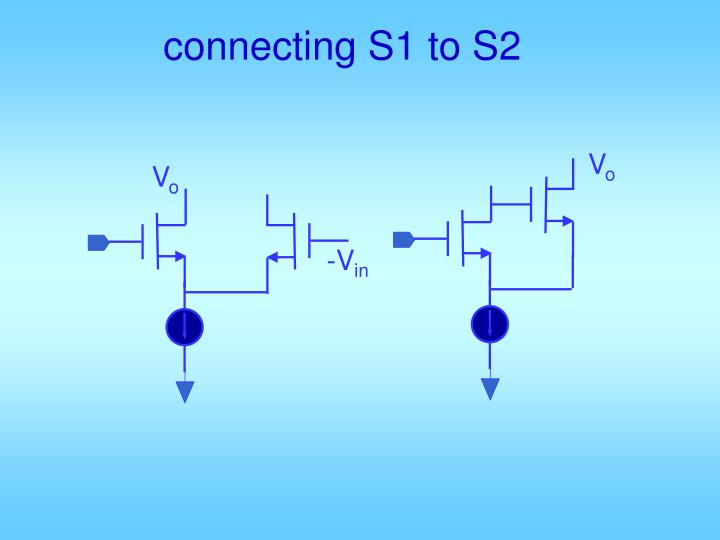 connecting S1 to S2