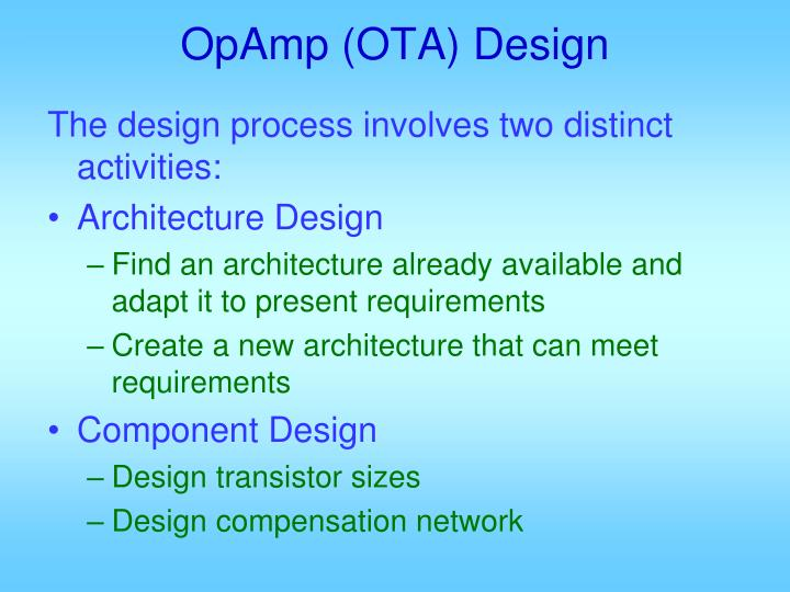Opamp ota design