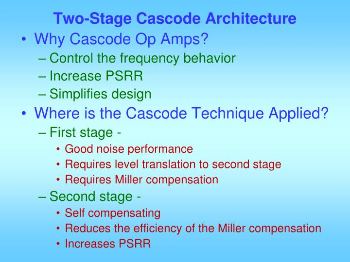 Two-Stage Cascode Architecture