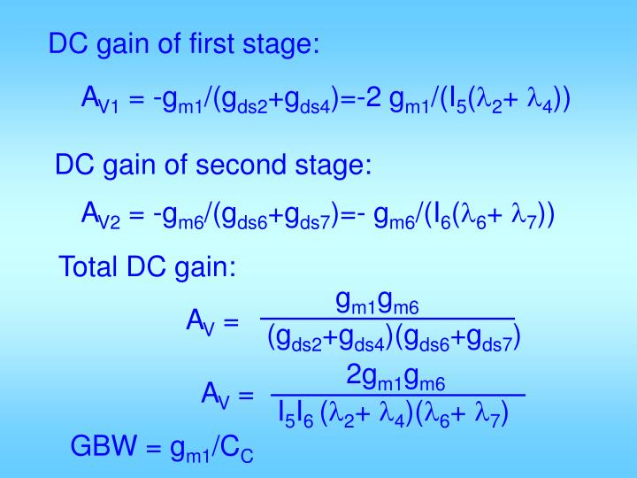 DC gain of first stage: