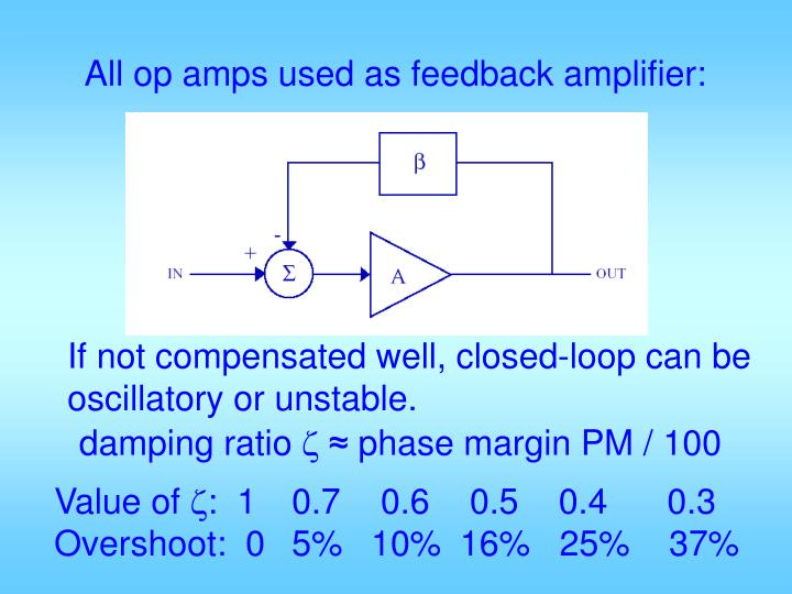 All op amps used as feedback amplifier: