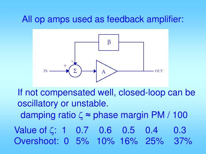 All op amps used as feedback amplifier: