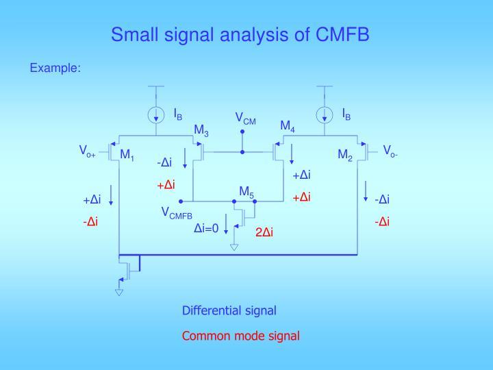 Small signal analysis of CMFB