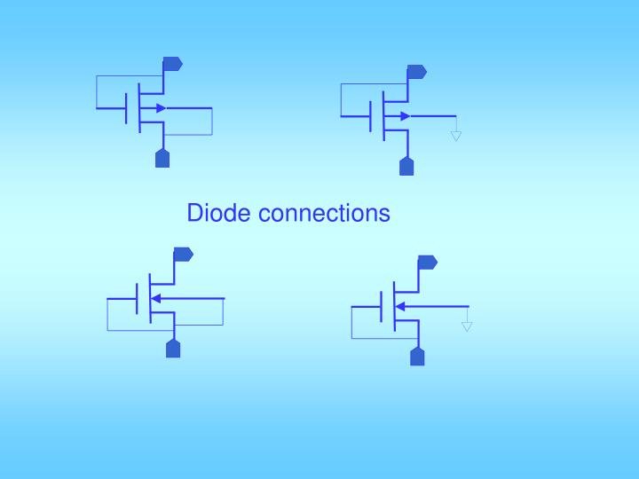 Diode connections
