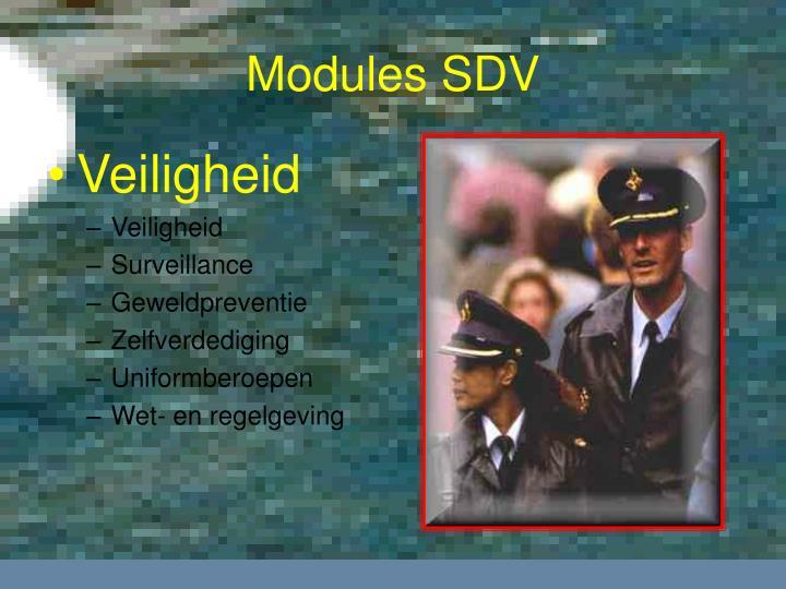 Modules SDV