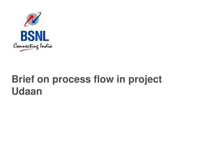 Brief on process flow in project Udaan