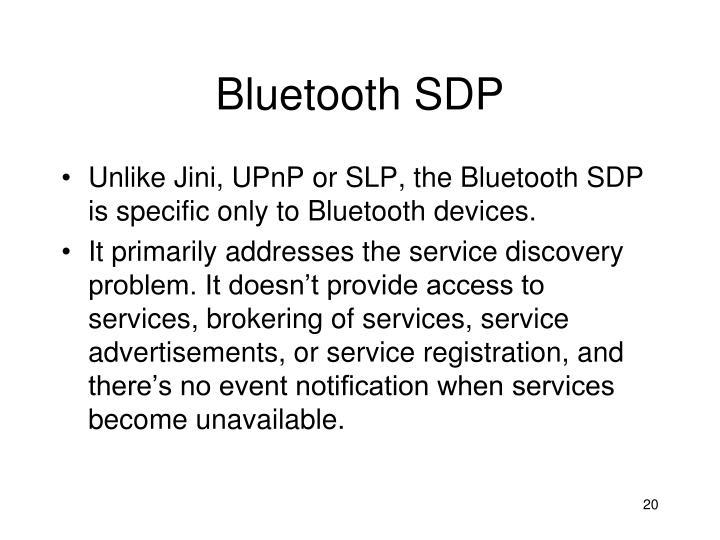 Bluetooth SDP