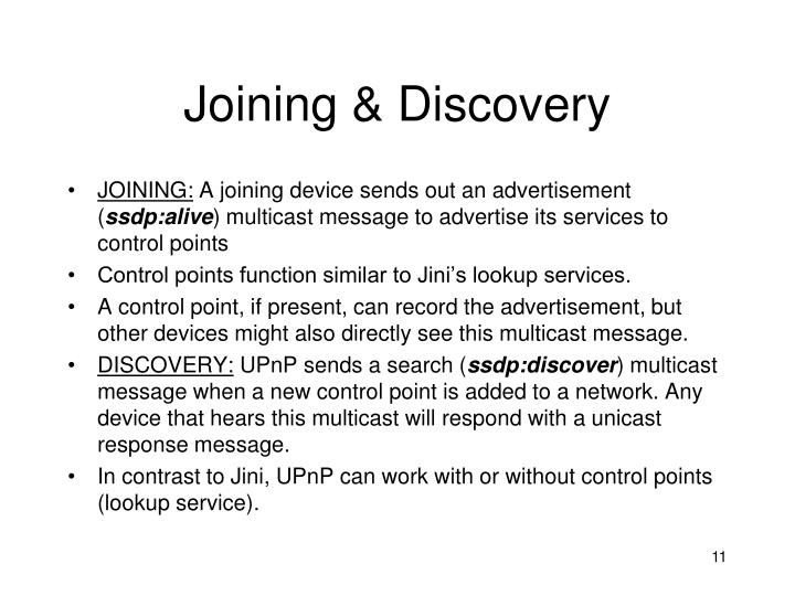 Joining & Discovery