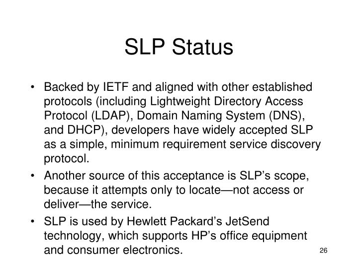 SLP Status