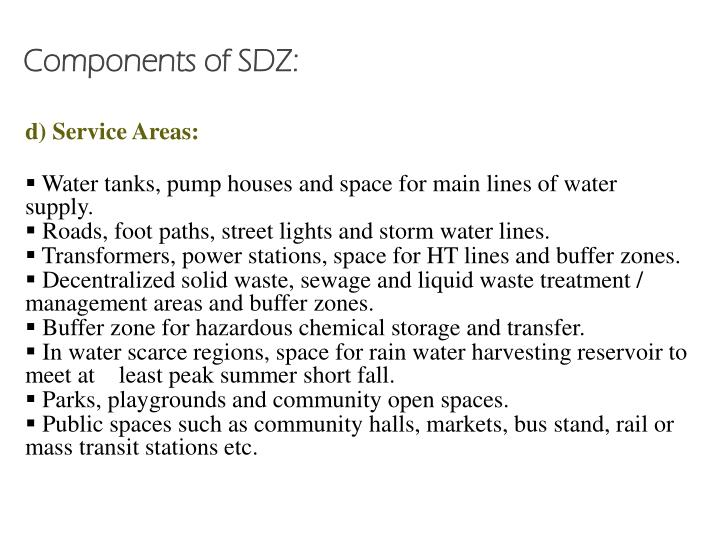 Components of SDZ: