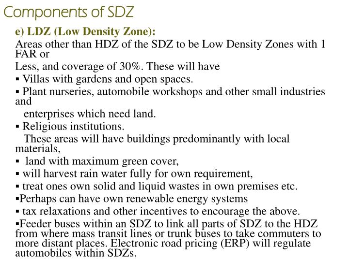 Components of SDZ