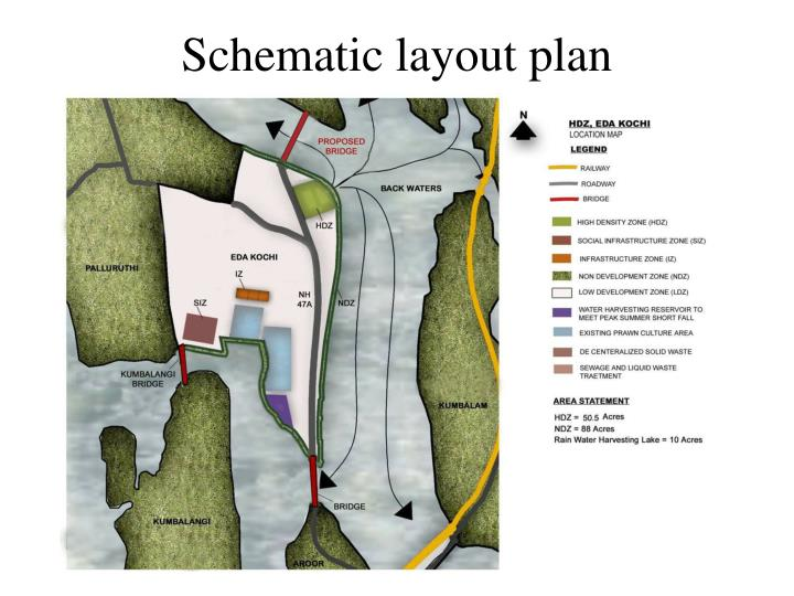 Schematic layout plan