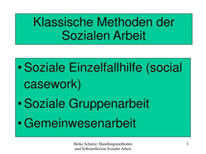 Klassische Methoden der Sozialen Arbeit