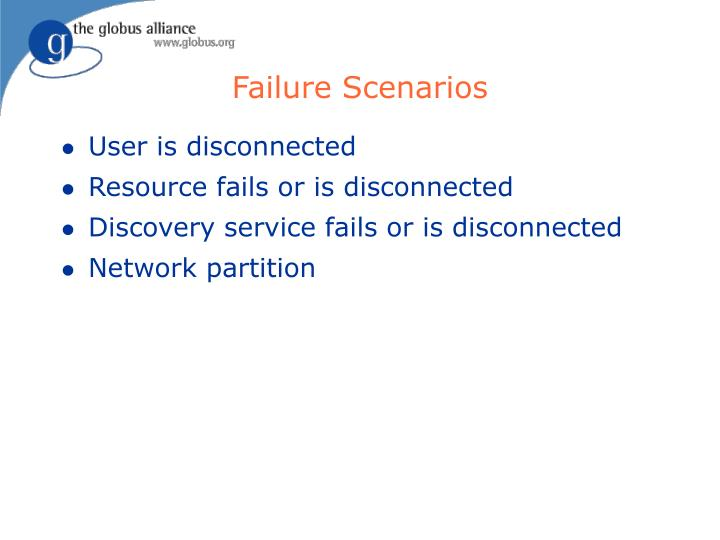 Failure Scenarios