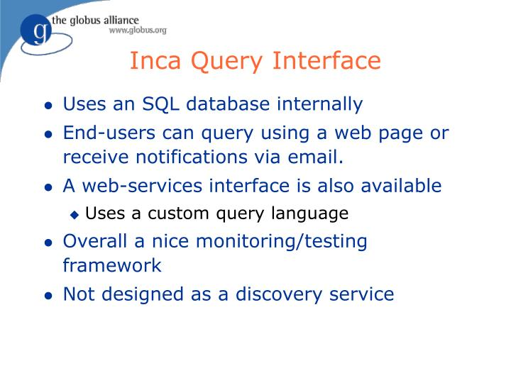 Inca Query Interface