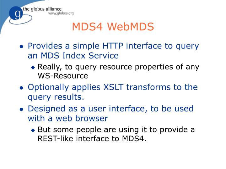 MDS4 WebMDS