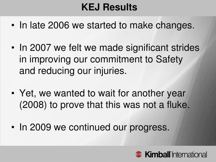 KEJ Results
