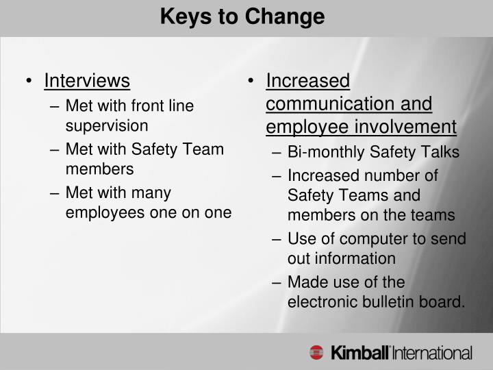 Keys to Change