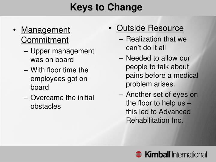Keys to Change