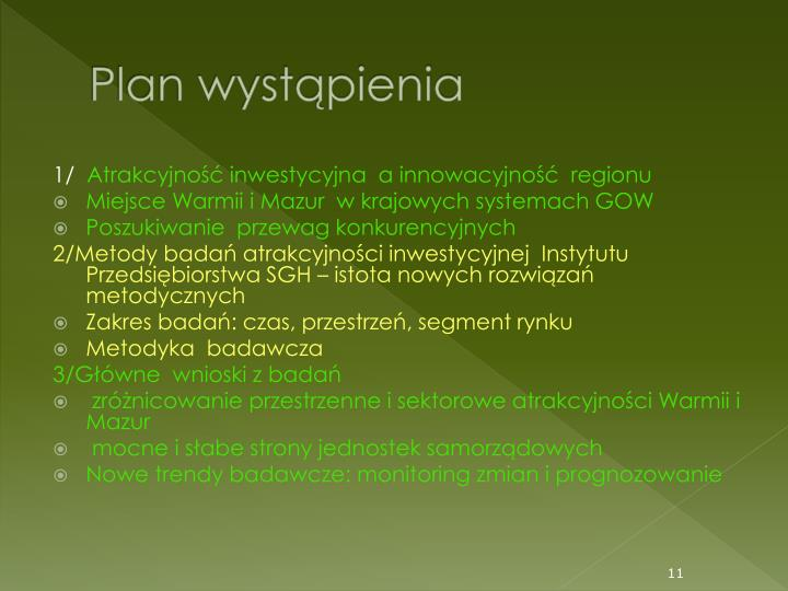 Plan wystąpienia
