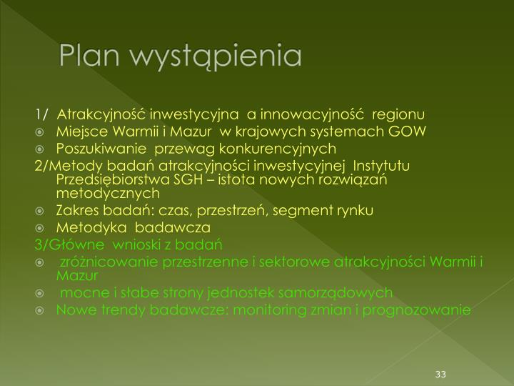 Plan wystpienia