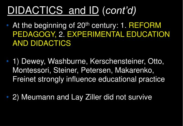 DIDACTICS  and ID