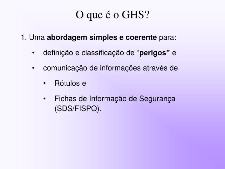 O que é o GHS?