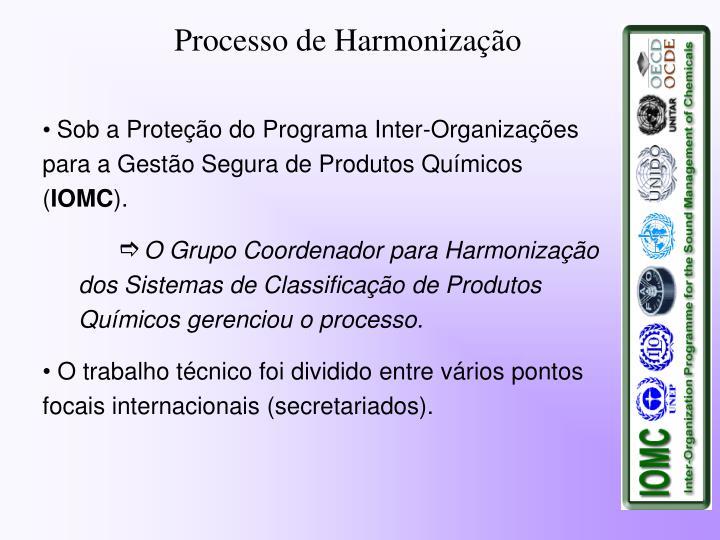 Processo de Harmonização