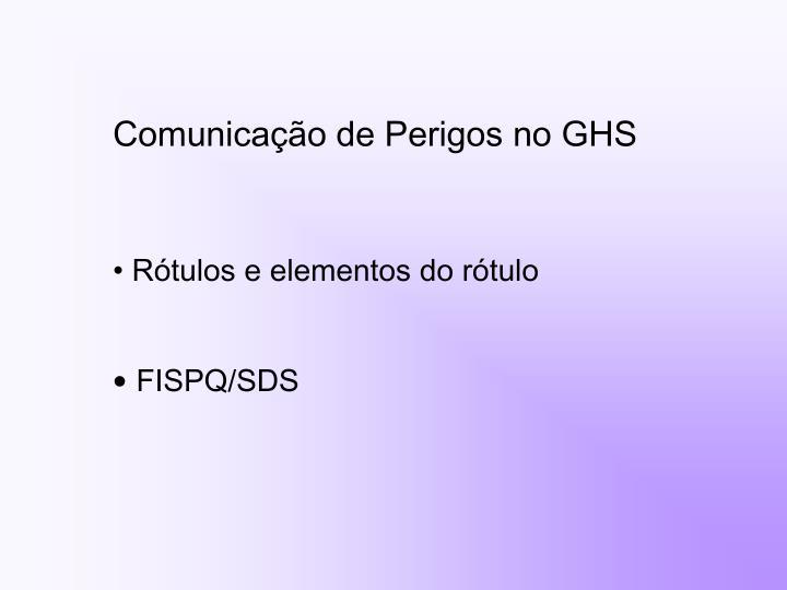Comunicação de Perigos no GHS