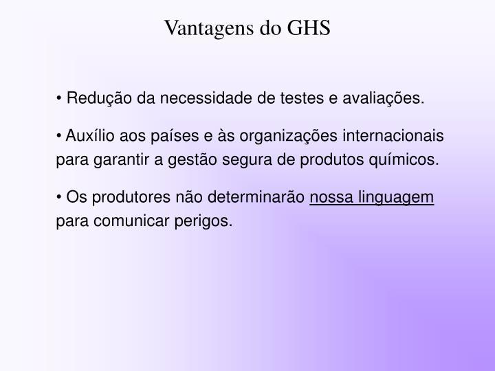 Vantagens do GHS
