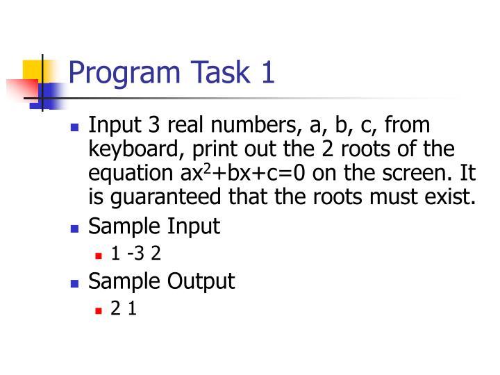 Program Task 1
