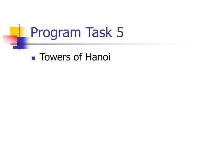 Program Task 5