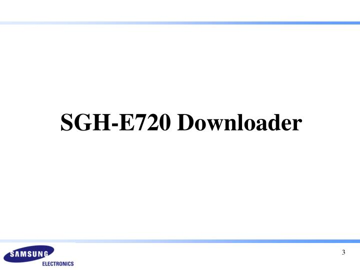 SGH-E720 Downloader