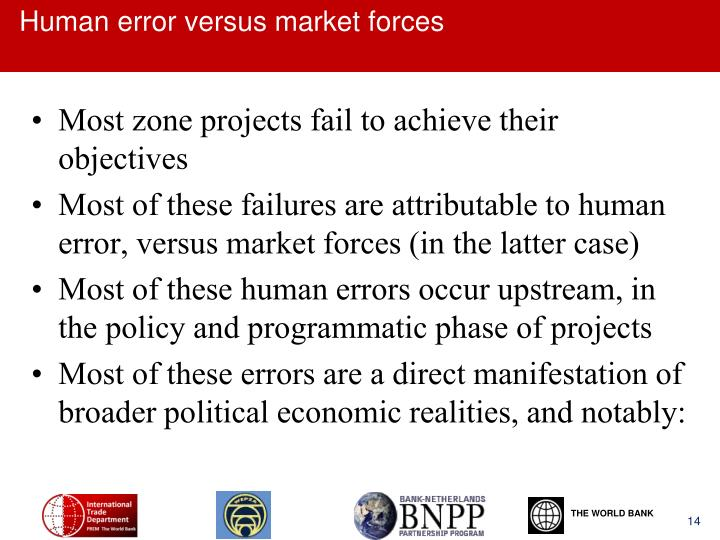 Human error versus market forces